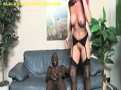 MILF Bouncing on Three Huge...
